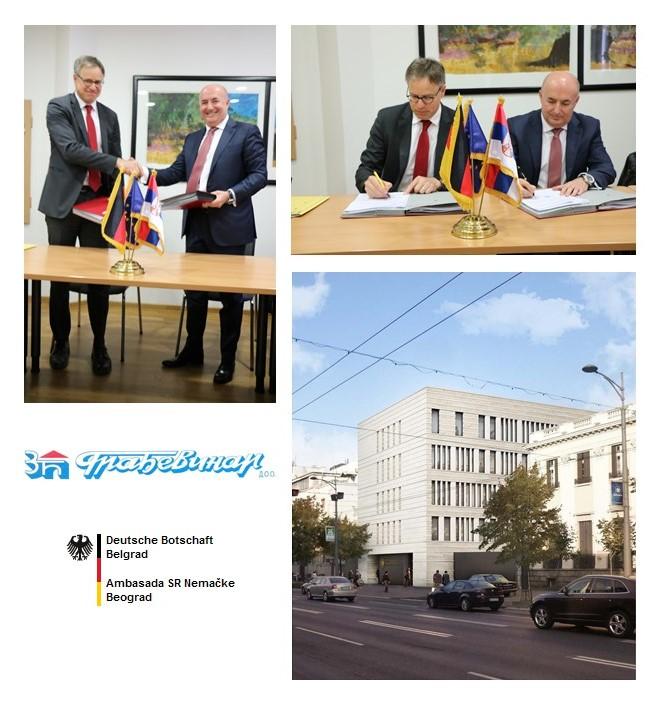 ugovor o izgradnji Ambasade SR Nemačke u Beogradu